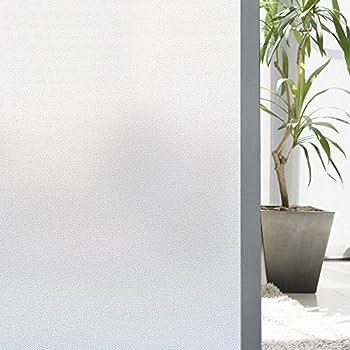 Lifetree Fen/être Brise-Vue Opaque Film Statique pour Chambre Salle de Bain 45 x 200 cm Noir