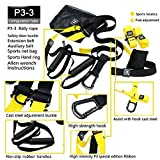 DLINK pro 3-3 Suspension Trainer Kit,Door Anchor,Training Straps Military Yoga Fitness Resistance Home Workout or Outdoors -Suitable for Men or Women (Yellow)