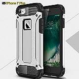 Caso para iPhone 7/7Plus con Protector de pantalla, turnmeon Armorbox Daul capa [cuerpo completo] [Heavy Duty protección] absorción de golpes/carcasa para iPhone 7/7Plus de 5,5pulgadas, plástico, plata, iPhone 7 Plus