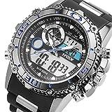 Sportuhr Digital Armbanduhr großes Gesicht wasserdicht Militär Stoppuhr SIBOSUN Japanisches Quarzwerk Alarm Datum Tag