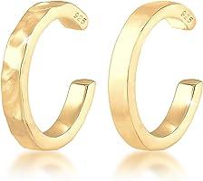Elli Damen-Klemmohrringe 925 Sterlingsilber vergoldet 0304210119