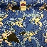 Midtex Blau DC Wunder Comic Batman Craft Stoff 100%