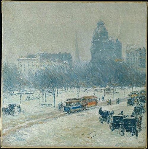 Das Museum Outlet - Winter in Union Square, 1889-90 - A3 Poster