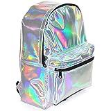 AGDLLYD Backpack Mädchen,Damen Rucksack/Mädchen Rucksack Schulrucksack Kunstlederrucksack mit Reflektierende Oberfläche für S