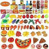 Estela - Giocattolo da Cucina, 139 Pezzi, in plastica, per Mangiare Frutta e Verdura, per insegnare ai pedagogici la Cucina