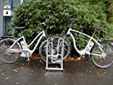 Fahrradständer - Bügelparker 4154 zweiseitig - 4 Einstellplätze