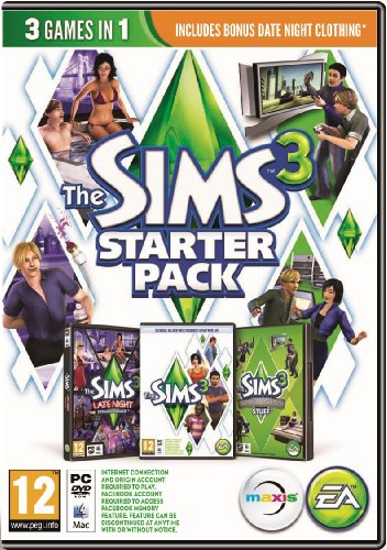 NEW & SEALED! The Sims 3 Starter Pack Late Night High-End Loft Stuff PC DVD Game (Late Night Sims)