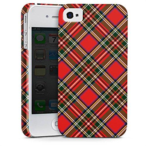 Apple iPhone X Silikon Hülle Case Schutzhülle Schotten Scottish Tartan Muster Premium Case glänzend