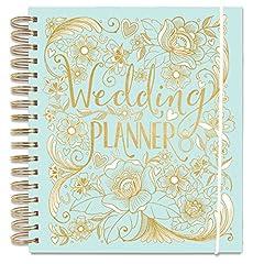 Idea Regalo - Rachel Ellen, quaderno per Wedding Planner, colore azzurro, con sezioni dedicate ai regali, checklist e tasche per organizzare un matrimonio