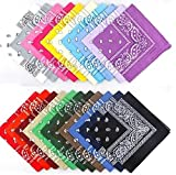 12 x Color Paisley Bandana's Biker Girl Headwear/Hair Bands Scarf Neck Wrist Wrap Head Band