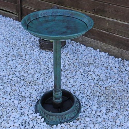 Vogeltränke VGT1 Vogelbad Vogel Tränke Bad mit Fuß zum bepflanzen antike Schale - 2