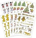 Avery Zweckform 59817 Sticker Set Weihnachten Weihnachtsmotive (Vorteils-Pack) 181 Aufkleber