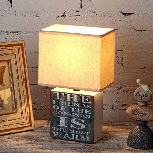 Schlafzimmer Nachttischlampe einfaches amerikanisches Dorf Retro Dekoration Schreibtisch Lampe Wohnzimmer Studie,EIN (Stimmung Bleistifte)