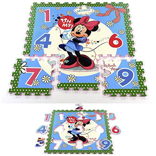 Disney Spielmatte Fußboden EVA Schaum Puzzle Spielboden Minnie Mouse, Cars, Ausführung:Minnie Mouse