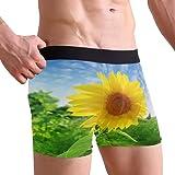Funnyy Floral Flower Sunflower Boxer Briefs Men's Underwear for Men Boy