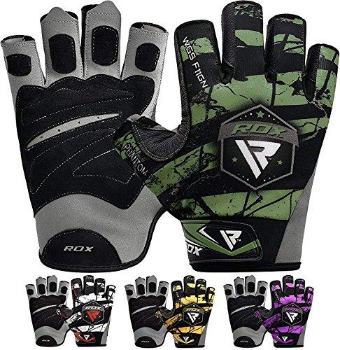 guanti palestra nike RDX Guanti Palestra Sollevamento Pesi Uomo Fitness da Allenamento Bodybuilding Esercizio Pesistica Polso