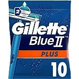 Gillette Blue II Plus Disposable Razor Set for Men - 10 Pieces