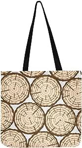 Die Textur der primitiven Bäume im Retro Wind Canvas Tote Handtasche Umhängetasche Crossbody Taschen Geldbörsen für Männer und Frauen Einkaufstasche