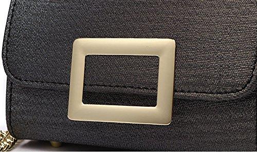 Sacchetto di estate, versione coreana del sacchetto di spalla, zaino obliquo, borse, catena mini semplice borsa signora selvatica ( Colore : Nero ) Rosso