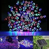 100 LED 17 Metri Impermeabile Stringa di Luci ad Energia Solare Solar Luci di Natale Leggiadramente illumina Ambiance Luci per Giardini, Case, Matrimonio, festa di Natale-Multicolore