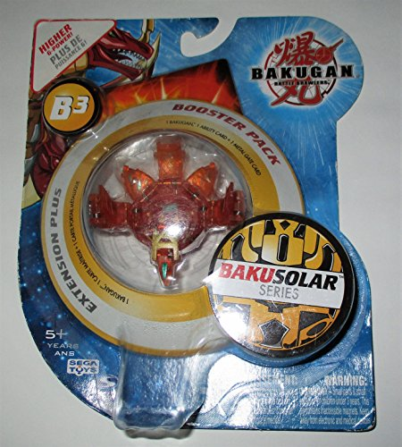 Bakugan Bakusolar Booster Pack (Translucent Orange) B3 WIth Higher G-Power