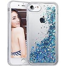 Funda iPhone 6/6s, Wuloo Liquid Glitter Funda Bling lindo de la chispa flotante Caso TPU suave brillante Cover para iPhone 6/6s