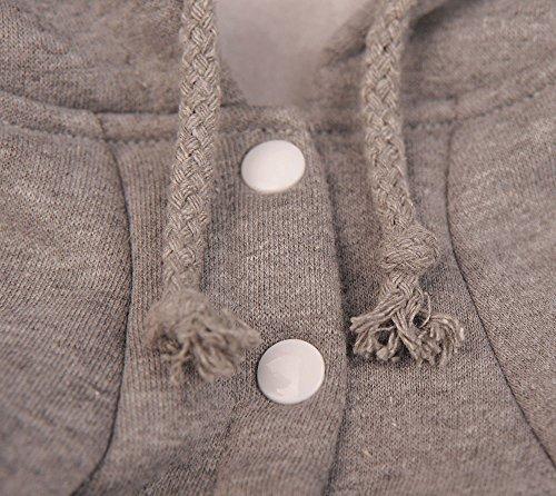 niceeshop(TM) Modern Weich Baumwoll Hund Hoodie Bekleidung(Grau,M) - 6