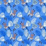 Fabulous Fabrics Flanell Affen & Palmenwedel — Meterware