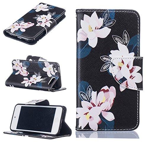 Voguecase® für Apple iPhone 6/6S 4.7 hülle,(Baum/Rosa) Kunstleder Tasche PU Schutzhülle Tasche Leder Brieftasche Hülle Case Cover + Gratis Universal Eingabestift Schwarz/Pink Blume