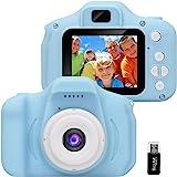 GlobalCrown Fotocamera Bambini,Mini Ricaricabile Fotocamera Digitale per Bambini Videocamera Regali per Ragazze Ragazzi da 3-