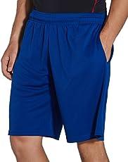 KomPrexx Sporthose Herren Kurz mit Taschen - Schnell Trocknend - Fitness Sport Shorts mit Kordelzug Kurze Trainingshose