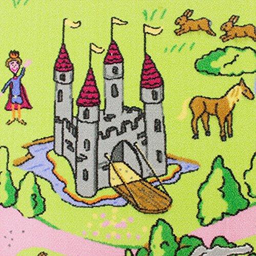 Märchenland HEVO Mädchen Teppich | Spielteppich | Kinderteppich 145x200 cm Oeko-Tex 100