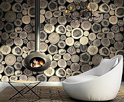GK-Einfache europäische Stil Wand Warmes TV Hintergrund Tapete DekorationBedroomHolzimitat bar