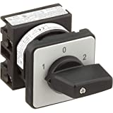 Eaton 012742 omkopplare, kontakter: 2, 20 A, främre skylt: 1-0-2, 60 grader, låsning, installation