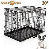 CozyPet, gabbia per cane con vassoio in metallo, alta qualità