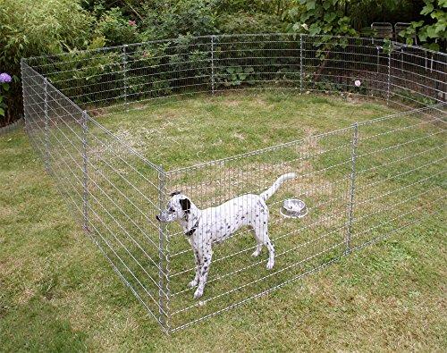 *Kleintiergehege Metall Zaun Set verzinkt Höhe 80 cm Gesamtlänge 7,10 m*