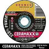 10 Stück Dronco AK 60 V-BF 115mm 1,2mm Ceramaxx Trennscheiben mit Keramikkorn der neuesten Generation Selbstschärfend 10 Stück 250% Power