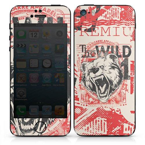 Apple iPhone SE Case Skin Sticker aus Vinyl-Folie Aufkleber Bär Tier Bear DesignSkins® glänzend