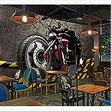 Ljtao Papiers Peints Muraux Vintage 3D Autocollants De Moto Fond D'Écran Photo Fond D'Écran Home Bar Decor Vinyl/Silk Wallpapers-450Cmx300Cm