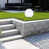 LED Solar Kugel Leuchte Kunststoff 30 cm 4 LED Garten Lampe