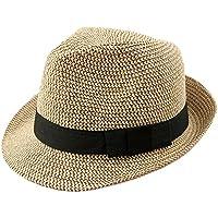 Leisial Pareja Sombrero de Paja Playa Jazz Panama Estilo Británico Deporte  al Aire Libre Gorro del e01244e9b01