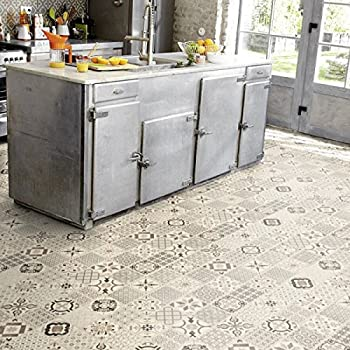 tarkett starfloor click 100 waterproof vinyl tiles retro black white grey victorian tile. Black Bedroom Furniture Sets. Home Design Ideas