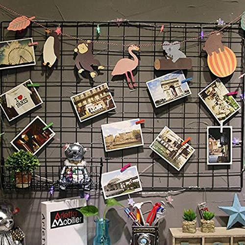 Wall Grid Panel Display Draht Wall Grid Wire Anschlagtafel Memoboard Multifunktionale Metall Dekorative Eisen Rack Foto Wandbehang Bild Wand Ins Art Display Foto Dekorationen Wohnheim -