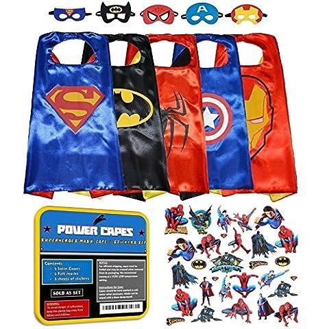 Costumes Power Rangers Garçons - Power Capes: Le Seul ensemble de 5