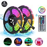 LED Strips Lights 10m Waterproof, RGB 5050 LEDs Colour Changing Kit with 44key Remote Control 5A Power Supply, Mood Lighting LED Tape Lights for Home Kitchen Christmas Indoor & Outdoor Decoration