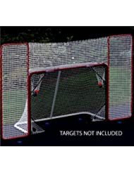 EZGoal Hockey Backstop, Red/White by EZGoal