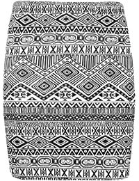 NEW WOMENS LADIES PRINTED SHORT MINI BODYCON JERSEY STRETCH PENCIL SKIRT ALL COLOUR AND SIZE AVAILABLE IN LISTING