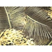 Animal Print yoryu Crinkle Chiffon Kleid Stoff khaki grün – Meterware db4c61552a