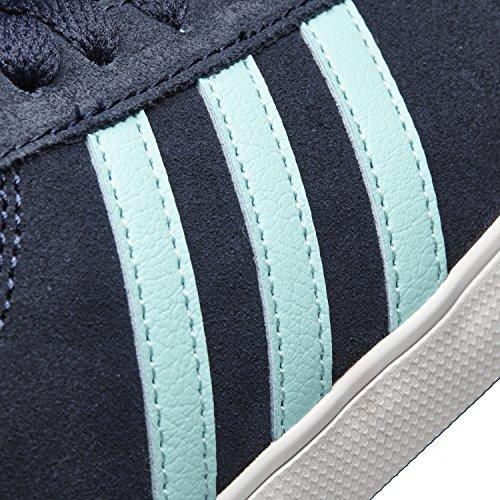 adidas Damen Courtset W Turnschuhe, Schwarz Blau