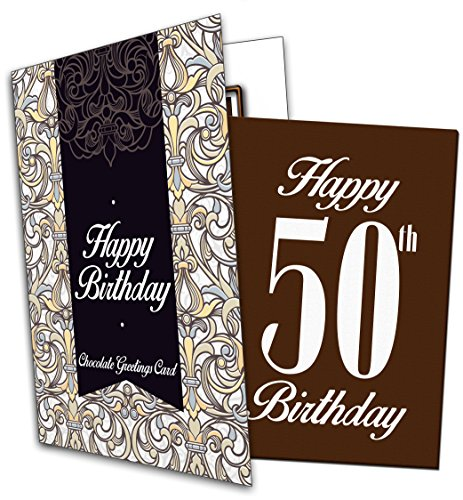 Happy 50th Birthday - Chocolate Greeting Card